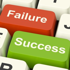 Failure Success keys on keyboard image